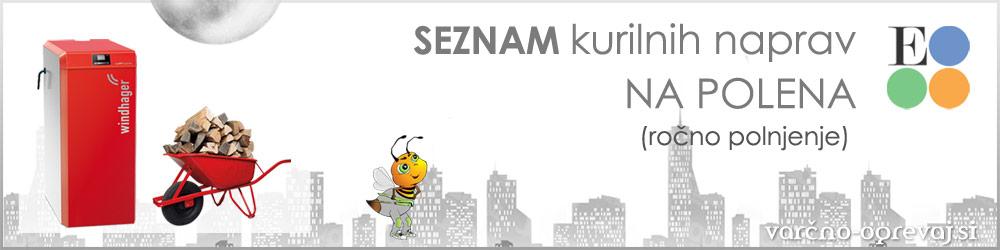 Eko sklad seznam kurilnih naprav na polena