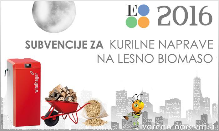Subvencije Eko sklad 2016 za kotle na lesno biomaso - javni razpis 37SUB-OB16