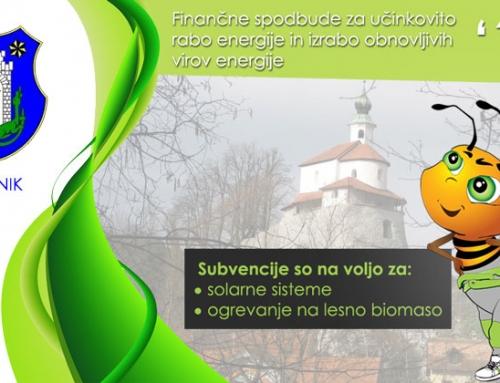 Kamnik 2016 – občinska finančna spodbuda za solarno ogrevanje in ogrevanje na lesno biomaso