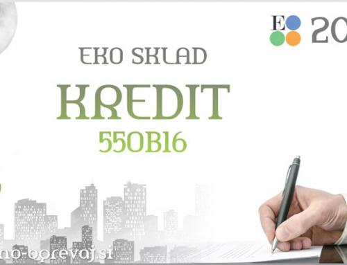 Javni poziv 55OB16 – Izkoristite še ugodnejši Eko sklad kredit