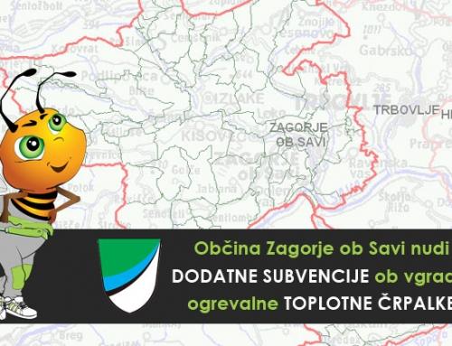 Dodatne subvencije ob vgradnji toplotne črpalke za občane Zagorja ob Savi