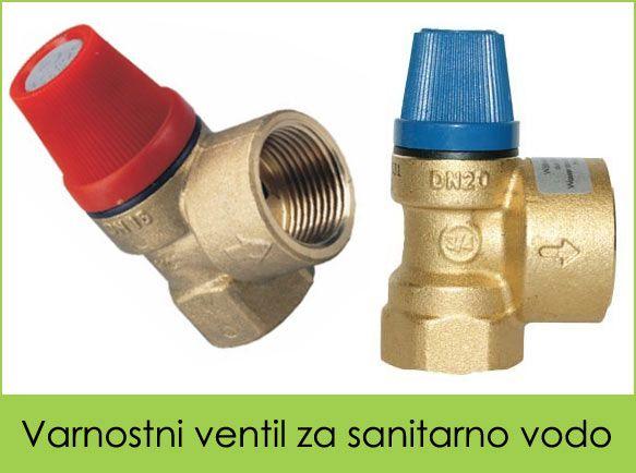 Varnostni ventil za sanitarno vodo