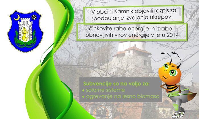 Subvencije za občane Kamnika