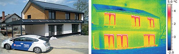 Primer prve slovenske certificirane pasivne hiše, ki je obenem energijsko aktivna
