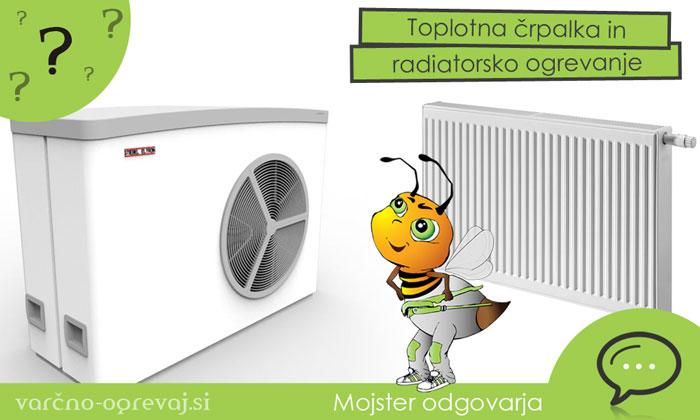 Toplotna črpalka in radiatorsko ogrevanje