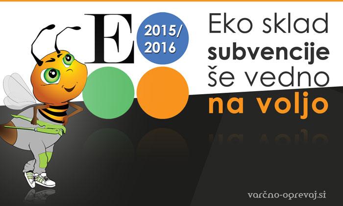 Eko sklad subvencije za javni poziv 29SUB-OB15 podaljšane v 2016.