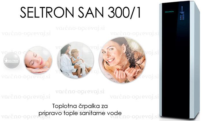 Seltron SAN 300/1 toplotna črpalka za ogrevanje sanitarne vode