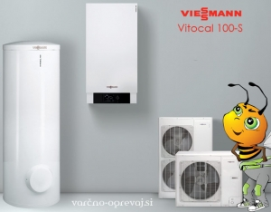 Viessmann Vitocal 100 S + grelnik sanitarne vode