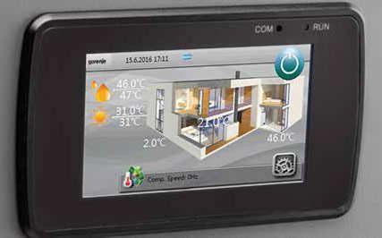 Gorenje Touch screen Aerogor Eco Inverter
