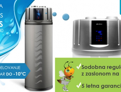 Sanitarna toplotna črpalka Orca Zeus PLUS, ki deluje vse do -10°C