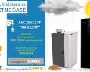 Seltron akcijski set na ključ: peletni kotel PKO 25 in sanitarna toplotna črpalka SAN 300