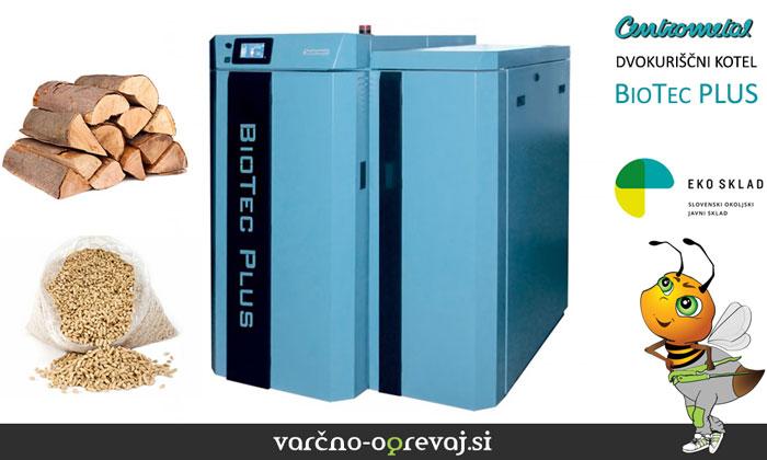 Dvokuriščni kotel Centrometal BioTec PLUS