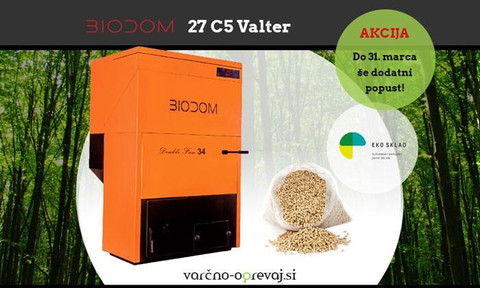 Kotel na pelete Biodom 27 C5 DF34 Valter - AKCIJA