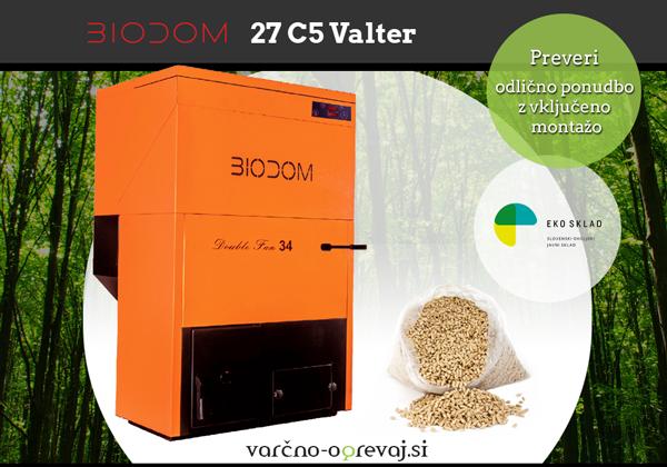 BIODOM | Zanesljiv in učinkovit kotel na pelete: BIODOM 27 C5 Valter