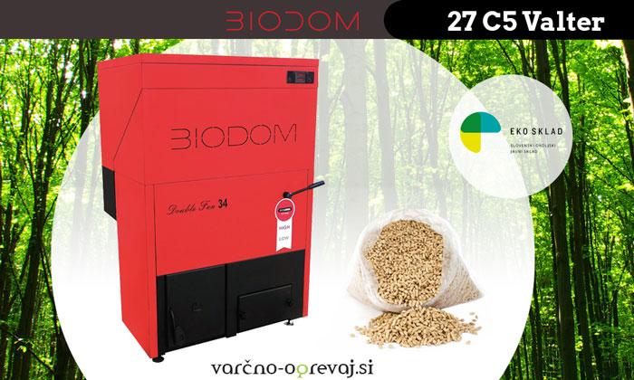 Zanesljiv in učinkovit kotel na pelete: BIODOM 27 C5 Valter