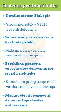 Bistvene prednosti kotla Biodom 27 C5