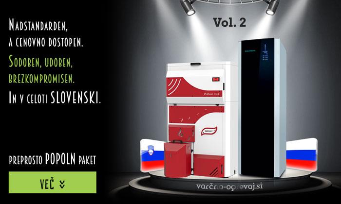 Slovenski paket Vol.2: avtomatski kotel na pelete Pellson X3S in sanitarna toplotna črpalka Seltron SAN300