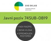 Javni poziv 74SUB-OB19 eKO SKLAD