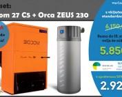 Biodom 27 C5 in sanitarna toplotna črpalka Orca Zeus 230