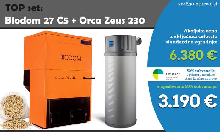 Biodom 27 C5 TOP set s sanitarno toplotno črpalko